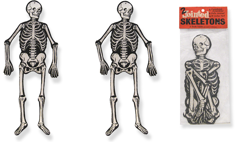 Vintage Halloween Skeletons