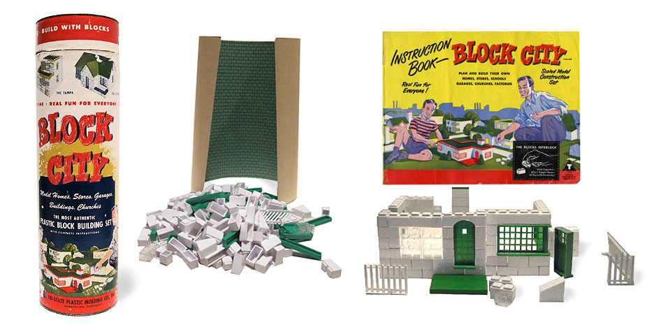 Vintage Block City Building Set
