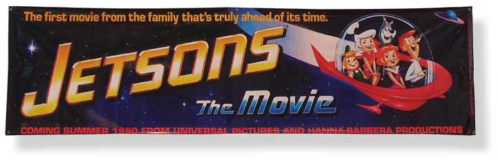 Vintage TV Jetsons Movie Banner