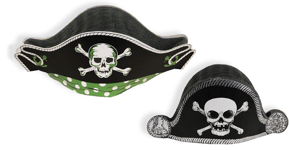 Vintage Halloween Pirate Hats