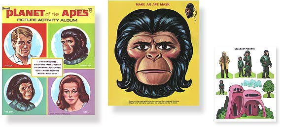 Vintage Planet Of The Apes Activity Book