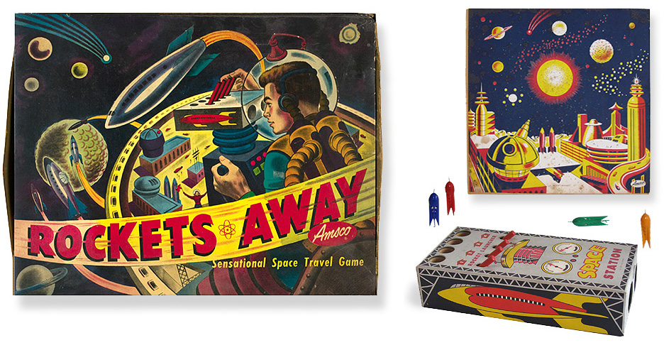 Vintge Space Rocket Toy Game