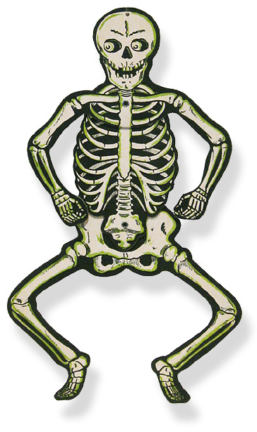 vintage halloween scarecrow vintage halloween skeleton die cut decoration
