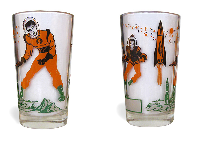 Vintage Space Drinking Glass