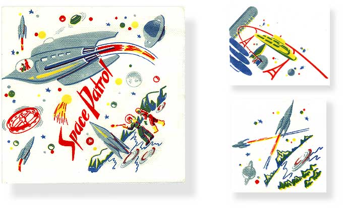 Vintage TV Space Patrol Napkins