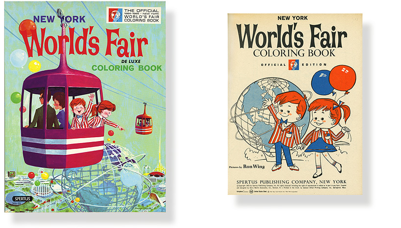 Vintage New York World's Fair Coloring Book